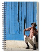 Cuban Man And His Cigar Spiral Notebook