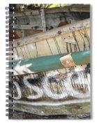 Cuban Refugees Boat 2 Spiral Notebook