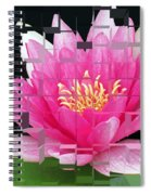 Cubed Lily Spiral Notebook