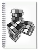 Cubed - Shades Of Grey Spiral Notebook