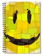 Cubism Smiley Face Spiral Notebook