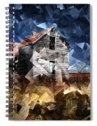 Cubist Abandoned Prairie Farm House Spiral Notebook