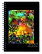 Fruit Collage Mini-print Spiral Notebook