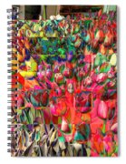 Tulips Of Many Colors - Nyc Markets Spiral Notebook