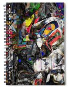 Cubist Photographic Composition Of Totem Poles Spiral Notebook