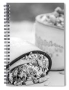 Cucumber Rolls Black And White Spiral Notebook