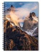 Cuernos Del Paine At Sunrise Spiral Notebook