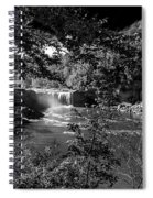 Cumberland Falls Black And White Spiral Notebook