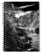 Cumberland Falls Seven Bw Spiral Notebook