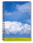 Cumulus Clouds Building Over Canola Spiral Notebook