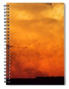 Cumulus Congestus Sunset Spiral Notebook