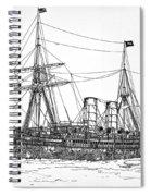 Cunard Liner Umbria 1880's Spiral Notebook