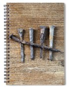 Counting With Old Nails Spiral Notebook