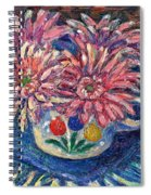 Cup Of Flowers Spiral Notebook