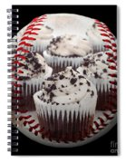 Cupcake Cuties Baseball Square Spiral Notebook