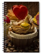 Cupcakes And Coffee Beans Spiral Notebook