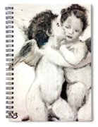 Cupid And Psyche By William Bouguereau Spiral Notebook