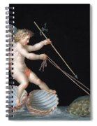 Cupid Being Led By Tortoises Spiral Notebook