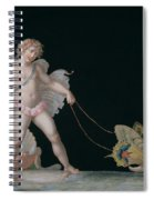 Cupid Led By Butterflies Spiral Notebook