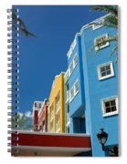 Curacaos Colorful Architecture Spiral Notebook