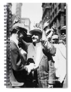 Curb Stock Brokers, C1916 Spiral Notebook