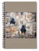 Curious Crows  Spiral Notebook
