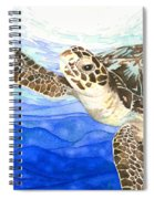 Curious Sea Turtle Spiral Notebook
