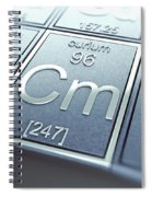 Curium Chemical Element Spiral Notebook