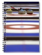 Curling Rocks On Ice Spiral Notebook
