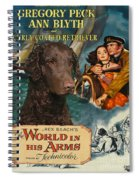 Curly Coated Retriever Art - The World In His Arms Movie Poster Spiral Notebook