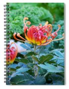 Curly Flowers Spiral Notebook