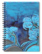 Curly Trees In Blu Spiral Notebook