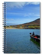 Curragh Moored At Dooega Village Spiral Notebook