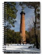 Currituck Beach Lighthouse Corolla Nc Color Img 3772 Spiral Notebook