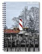 Curtin's Wharf Burlington New Jersey Spiral Notebook