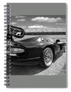 Curvalicious Viper In Black And White Spiral Notebook