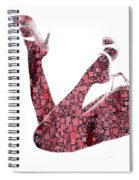 Curves And Squares Spiral Notebook