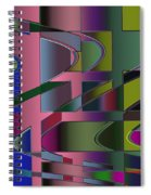 Curves And Trapezoids 3 Spiral Notebook