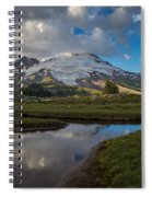 Curvy Baker Tarn Reflection Spiral Notebook