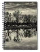 Cushwa Basin C And O Canal Black And White Spiral Notebook