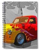 Custom Flames Spiral Notebook