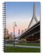 Custom House And Zakim Bridge Spiral Notebook