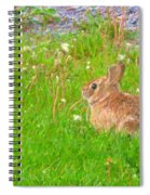 Cute And Fluffy - Digital Painting Effect Spiral Notebook