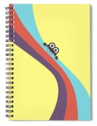 Cute Bug Bites Candy Colored Stripes Spiral Notebook