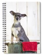 Cute Dog Washtub Spiral Notebook