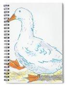 Cute Duck Cartoon Spiral Notebook
