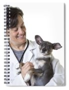 Cute Little Puppy With Vet Spiral Notebook