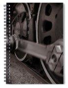 Cutting Through The Steam Spiral Notebook