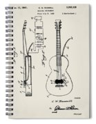 Cw Russell Acoustic Electric Guitar Patent 1939 Spiral Notebook