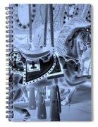 Cyan Horse Spiral Notebook